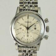 TISSOT3つ目クロノグラフ手巻腕時計