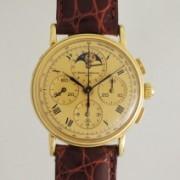 BAUME & MERCIERムーンフェイスクロノグラフ手巻時計