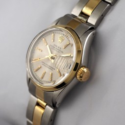 ROLEX OYSTE PERPETUAL DATE レディス自動巻腕時計