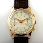 CYMA手巻クロノグラフ腕時計